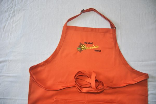 Big Island Chocolate Festival Orange Apron