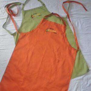 Big Island Chocolate Festival Aprons_Orange and Green