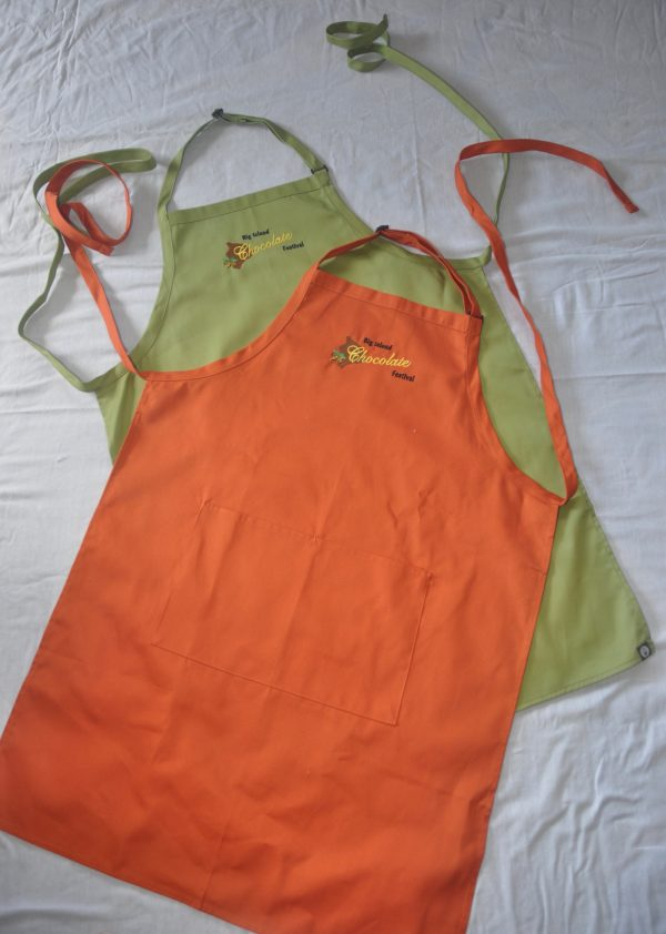Big Island Chocolate Festival Aprons_Orange and Green